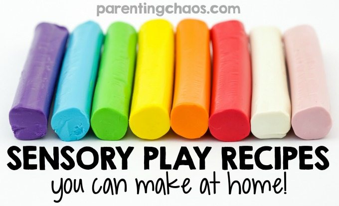 Making Sensory Play Recipes at home is a frugal and simple way to have hours of fun with your kids.