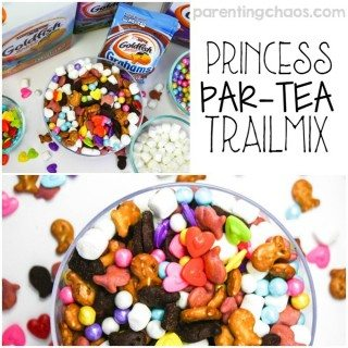 Spark joy one smile at a time with using Goldfish® crackers to make this simple Princess Par-TEA Trailmix! #GoldfishMix #AD