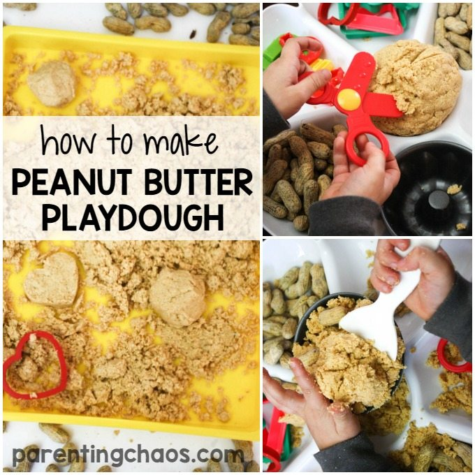 How to Make Peanut Butter Playdough from Peanuts