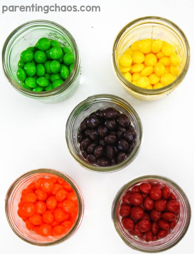 how to make skittles candy paint