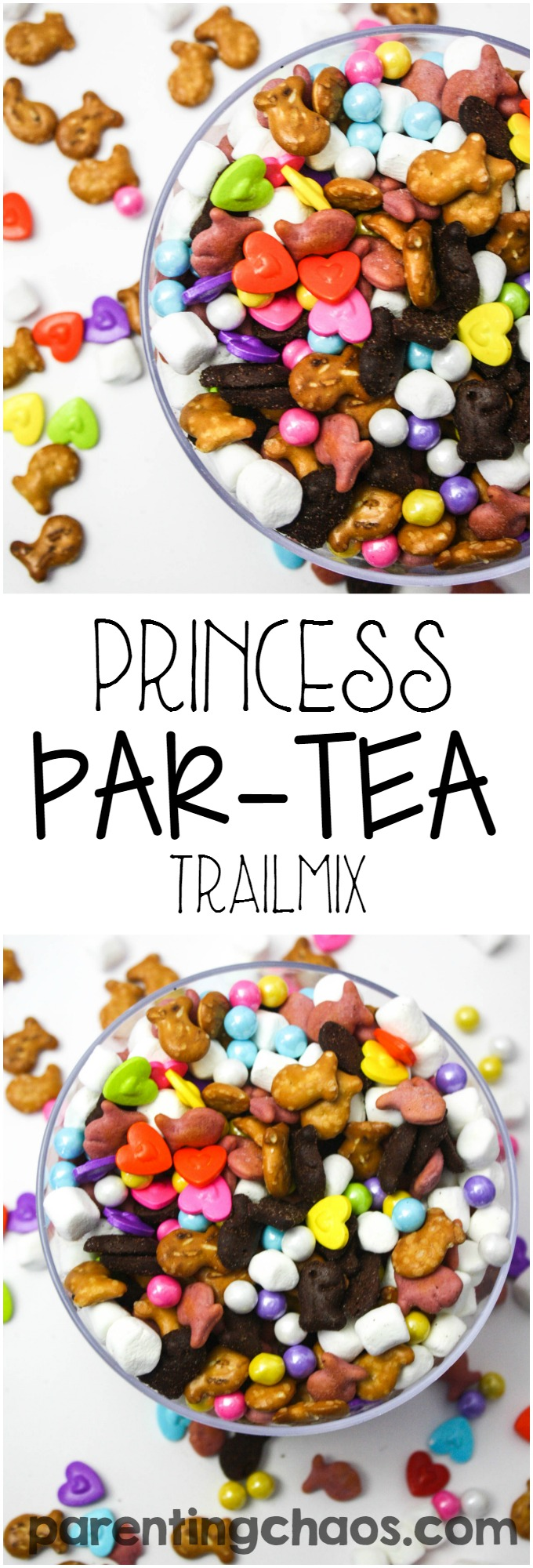 Spark joy one smile at a time with using Goldfish® crackers to make this simple Princess Par-TEA Trailmix!