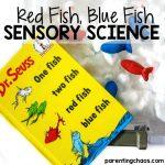 Red Fish, Blue Fish Sensory Science Bin