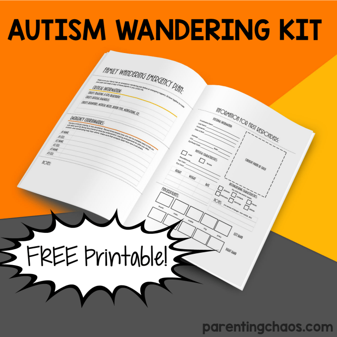 Autism Elopement and Wandering Kit for Families