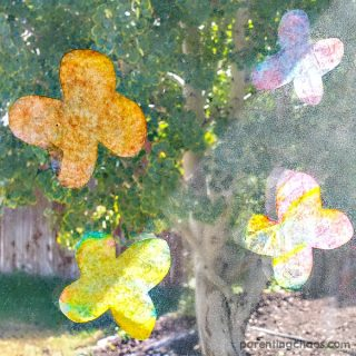 These Sun Catcher Butterflies are a quick and easy craft your child will love.