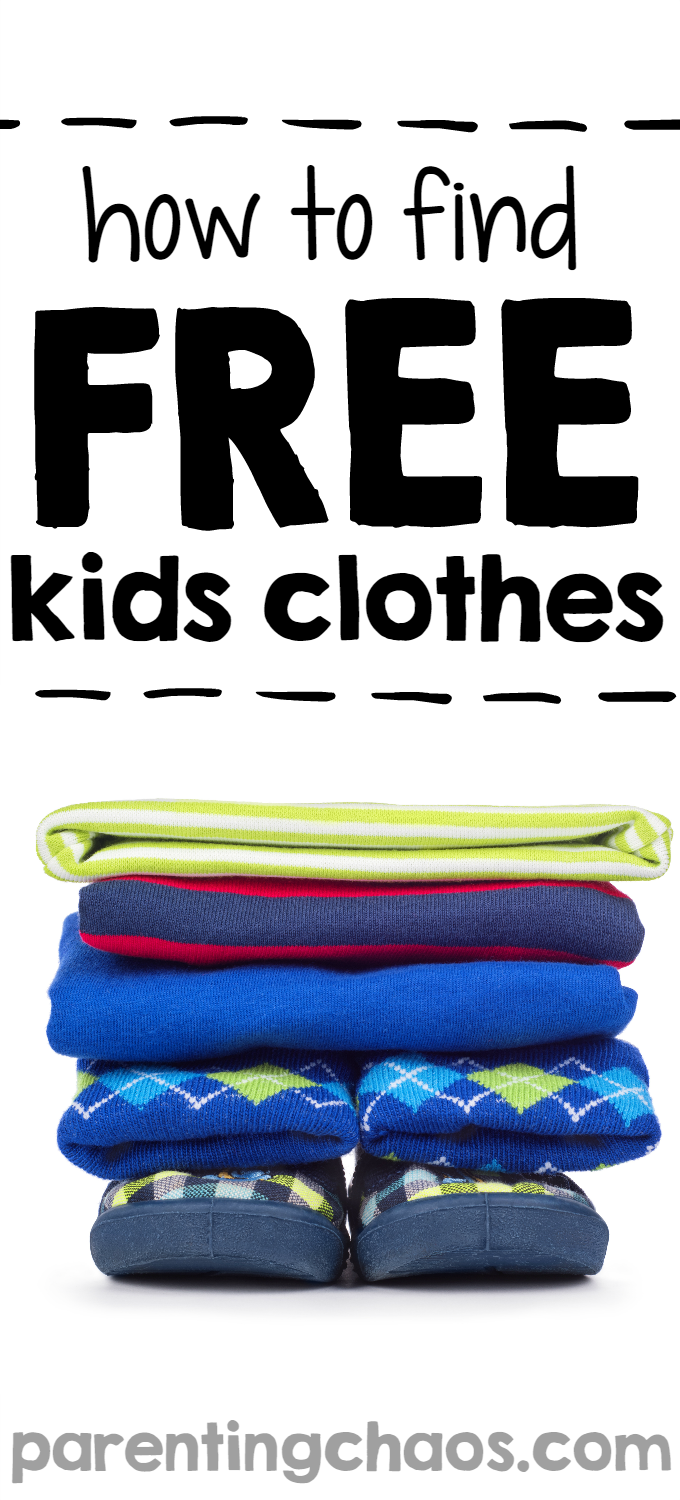 How to Find Free Kids Clothes ⋆ Parenting Chaos