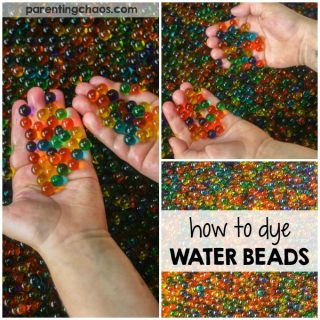 How to Dye Water Beads