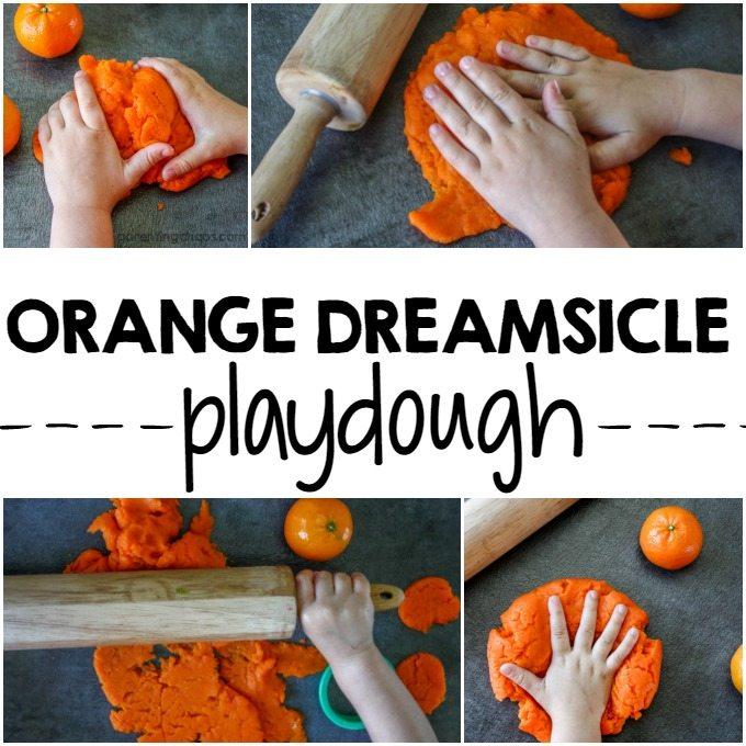 How to Make Homemade Orange Dreamsicle Playdough!