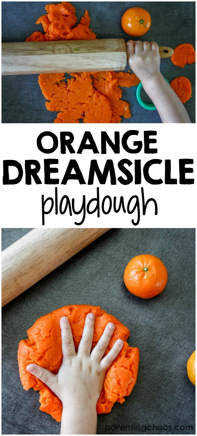 How to Make Homemade Orange Dreamsicle Playdough!