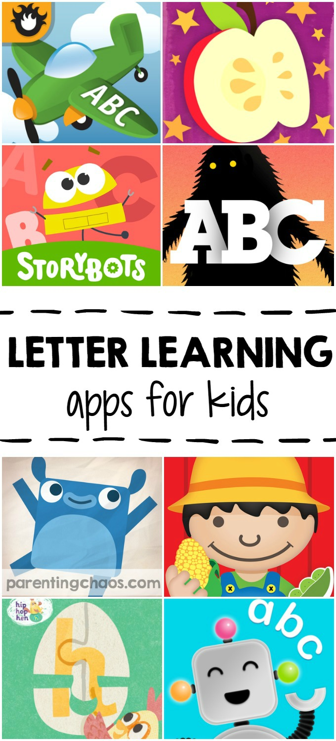 Letter Learning Apps for Kids: 10 Apps that teach letter knowledge and print awareness through interactive play
