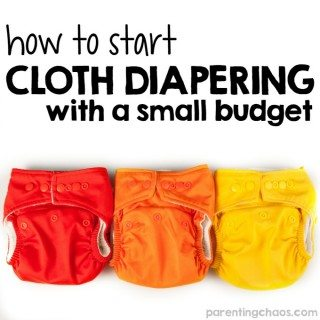 How to Start Cloth Diapering on a Small Budget
