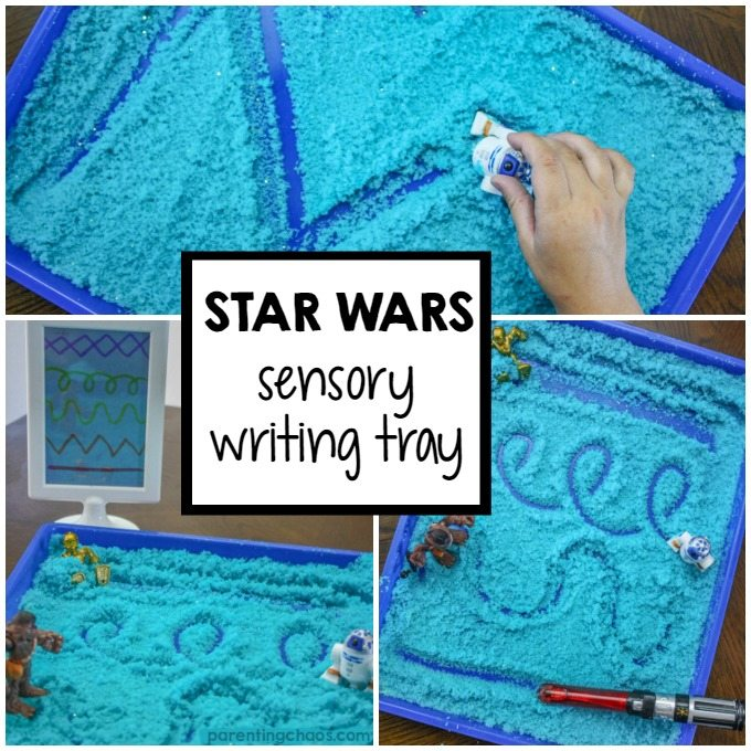 Star Wars Light-saber Sensory Writing Tray