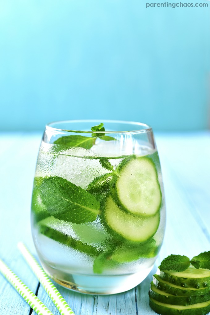 This simple skinny cucumber mojito recipe is light and fresh - perfect for a hot summer day!