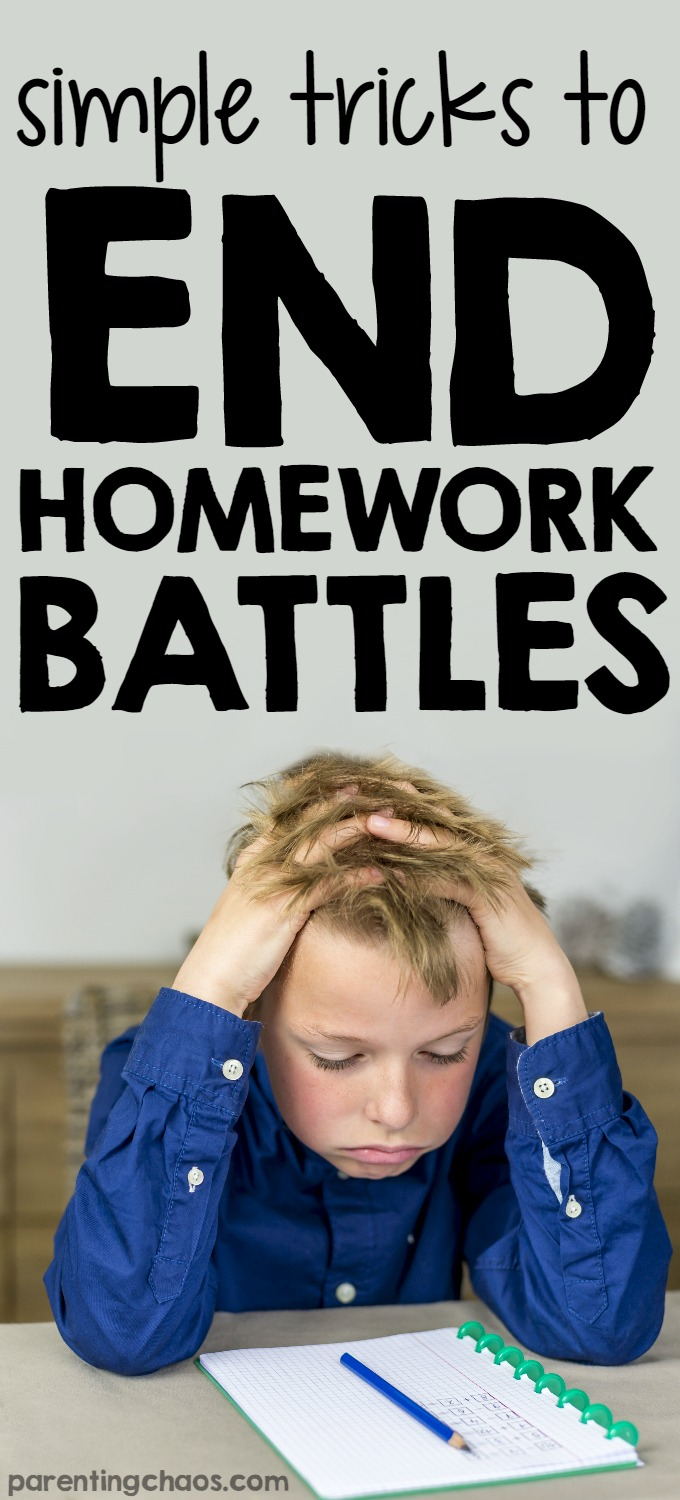 These simple tricks to end homework battles changed the entire way that we were approaching homework and greatly reduced the amount of conflict there was in our home over homework.