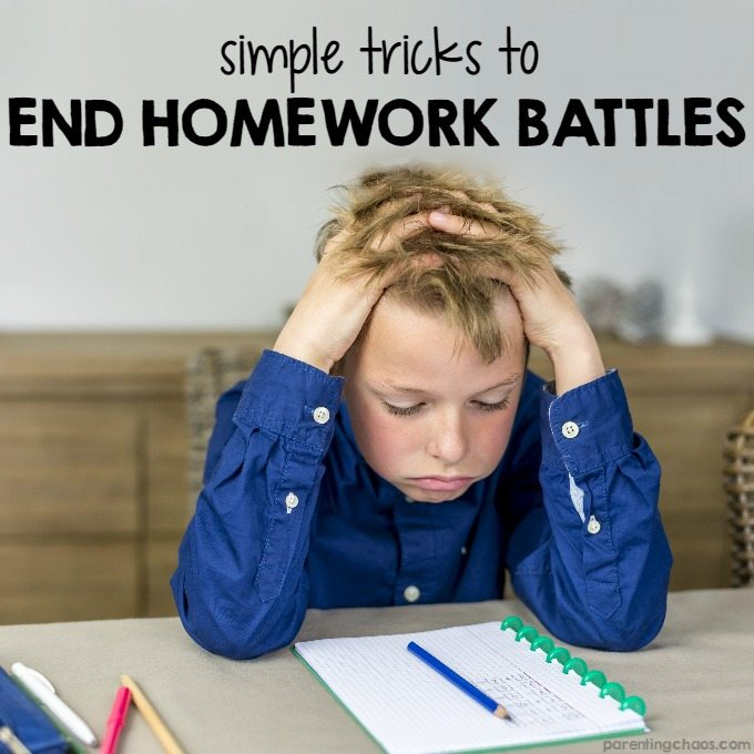 Simple Tricks to End Homework Battles