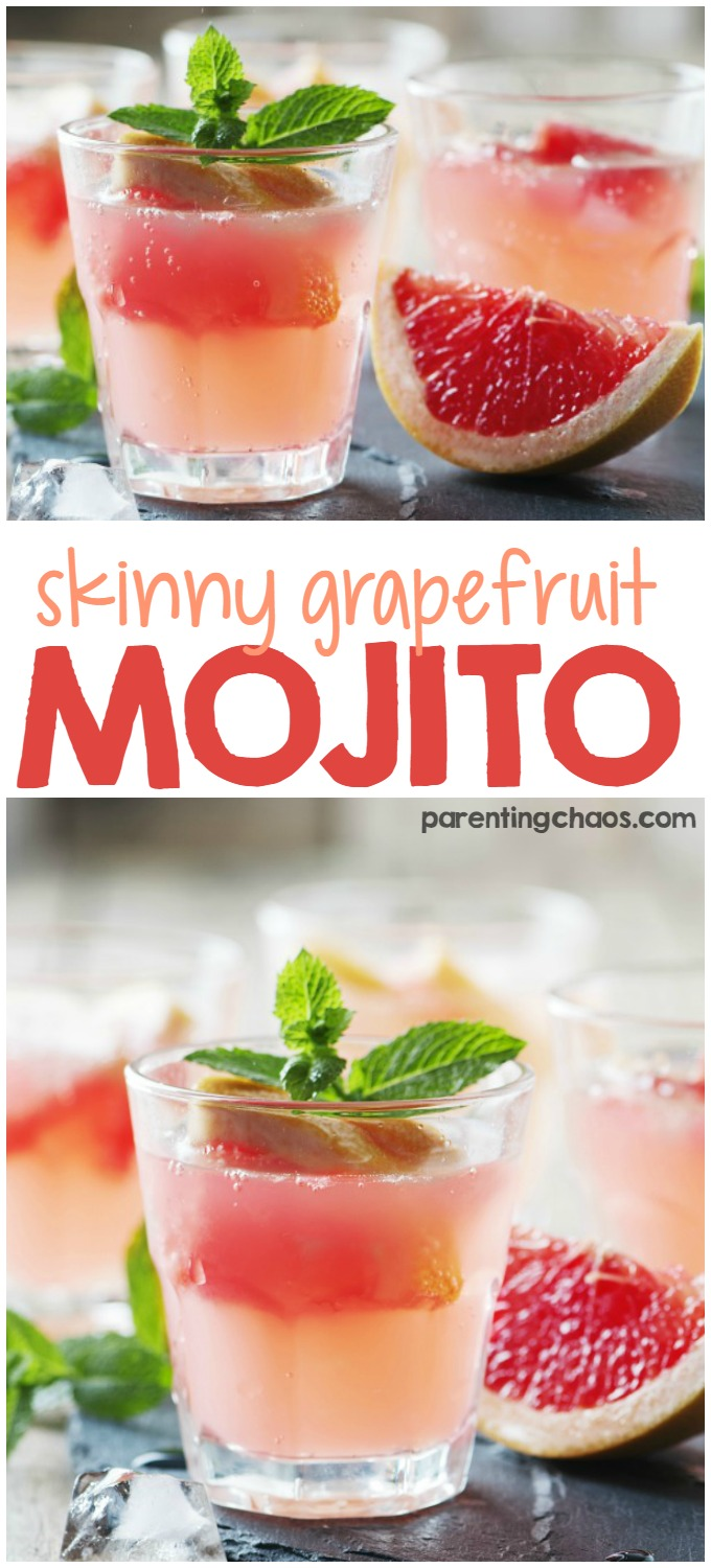 Sweet, sour, and bubbly, this Skinny Grapefruit Mojito is bound to win your heart!