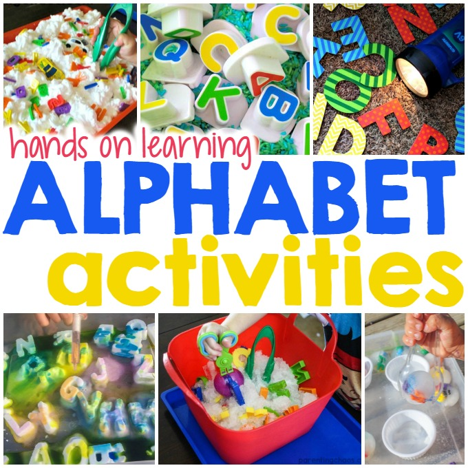 Super Fun Hands on Alphabet Activities for Kids
