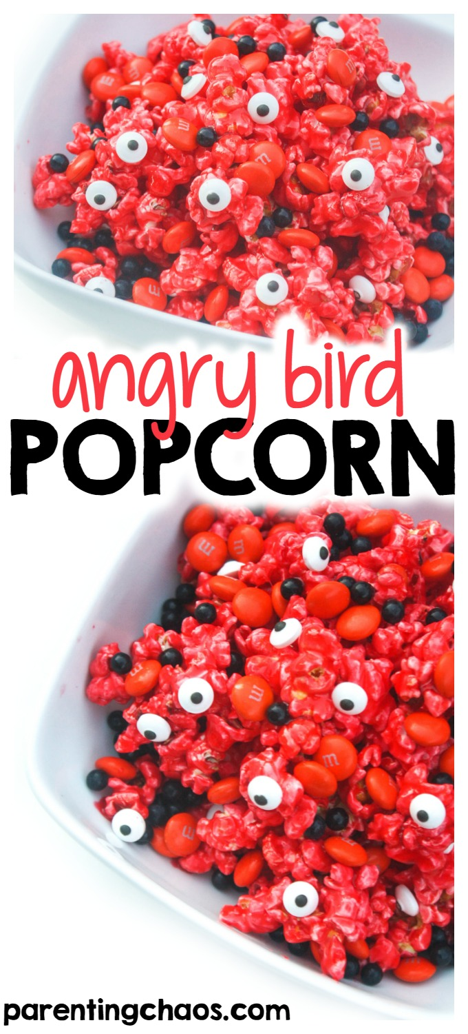 Buttery and sweet with a pucker power punch, this Angry Bird Popcorn Snack is one that your kids are sure to love!