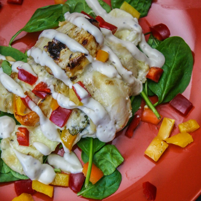 How to Make Mozzarella and Spinach Stuffed Chicken Breasts