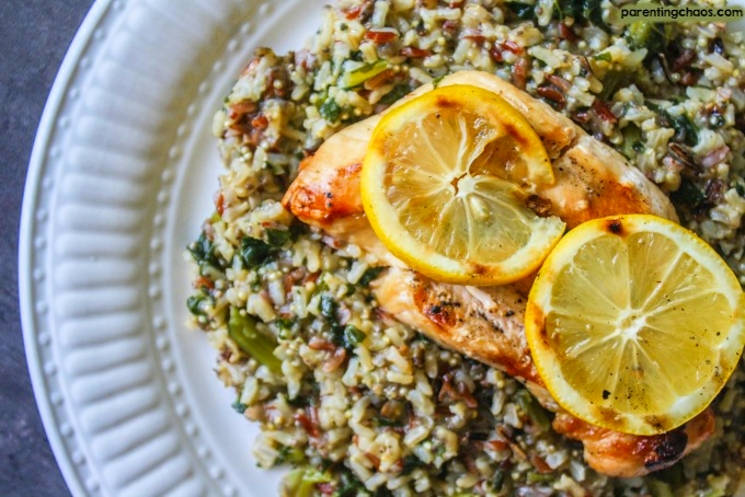 This Grilled Lemon Kale Quinoa Chicken is fresh, light, and packed full of flavor.