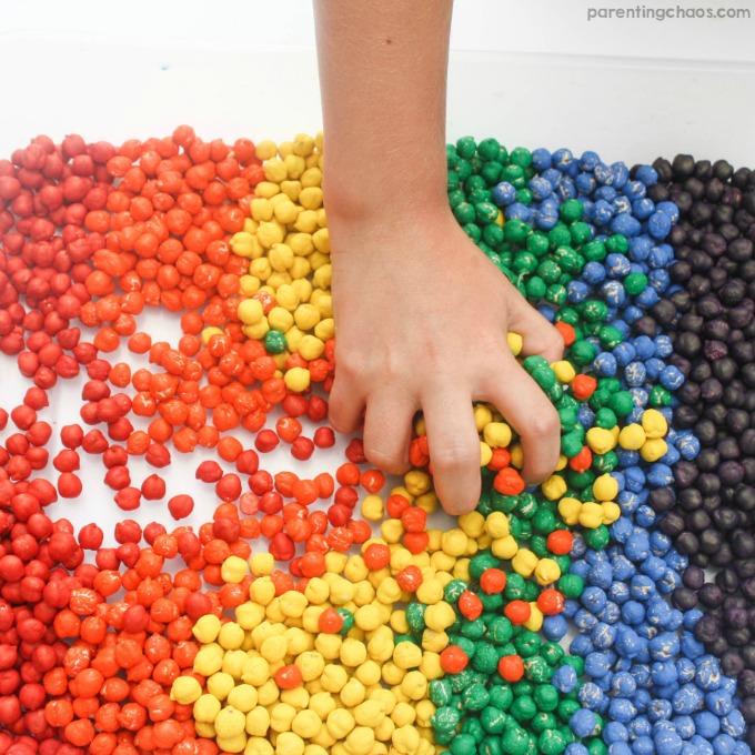 Rainbow Dyed Chickpeas
