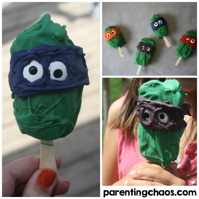 Easy Teenage Mutant Ninja Turtle Frozen Yogurt Bars
