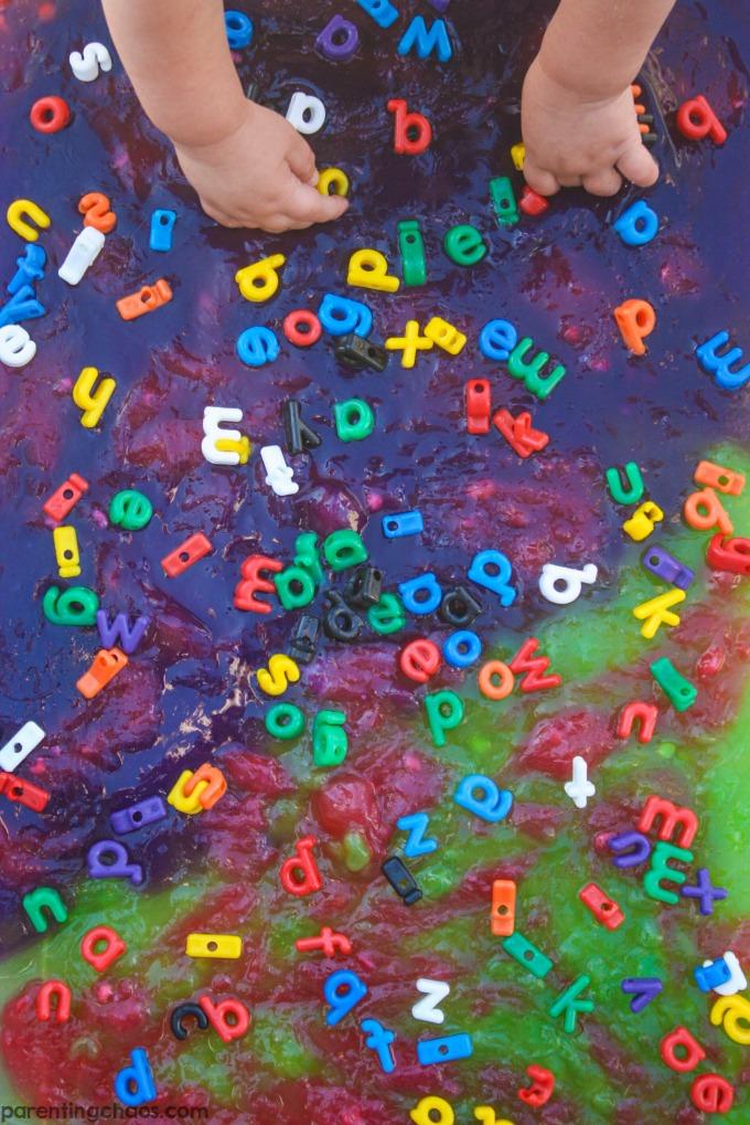 Fail Proof Edible ABC Slime - LOVE the colors!