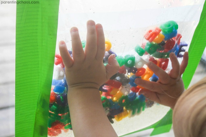 Kids will LOVE this ABC Sensory Window Bag