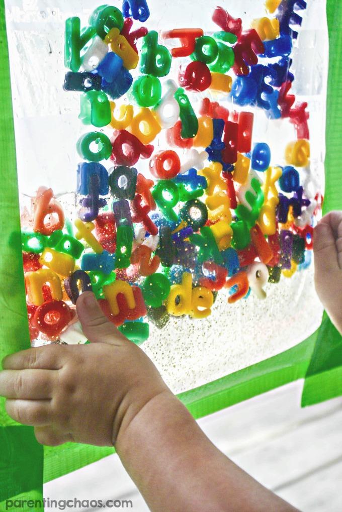 Kids will LOVE this ABC Sensory Window Bag