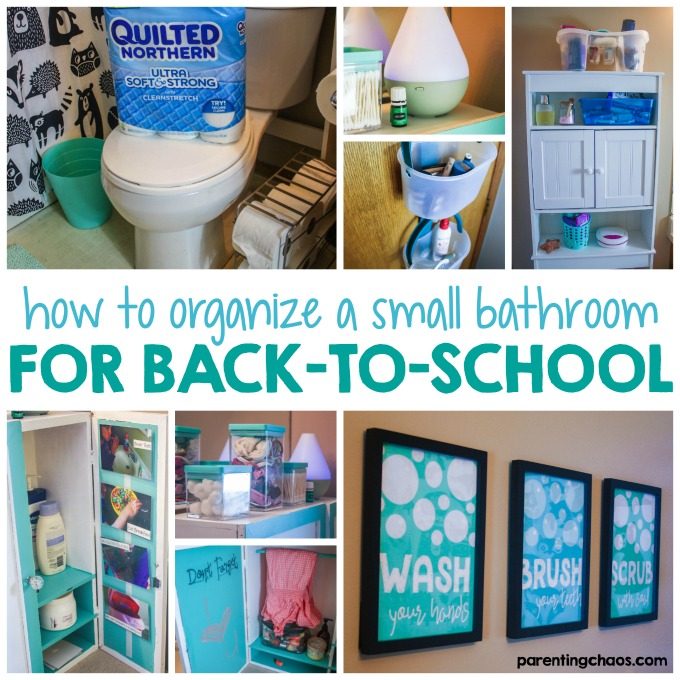 How to Organize a Small Bathroom for Back to School