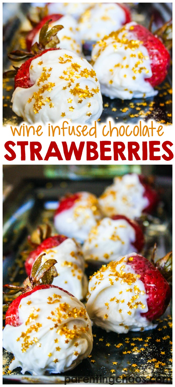These chocolate covered wine infused strawberries are delicious!
