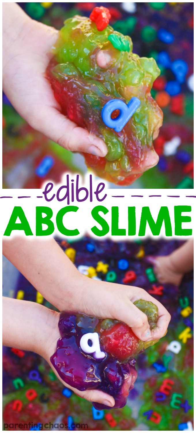 Fail Proof Edible ABC Slime - LOVE the colors!