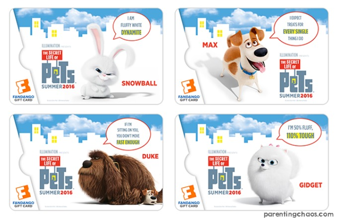 The Secret Life of Pets Gift Cards