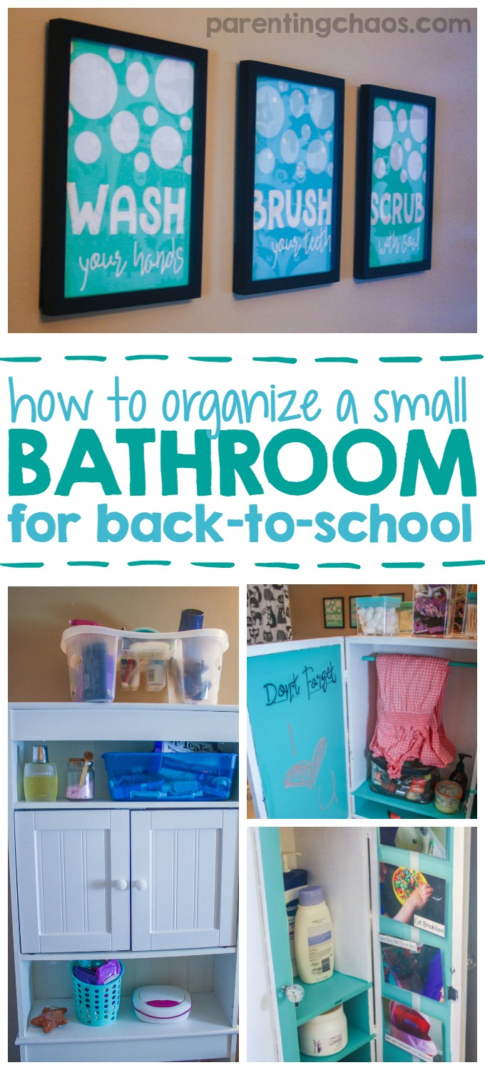 How to organize bathroom