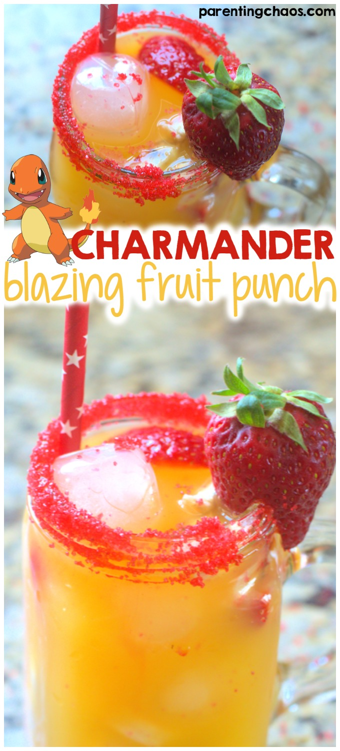 This Charmander drink is super easy and adorable!