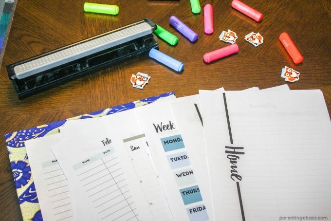 Back to School Family Binder Kit