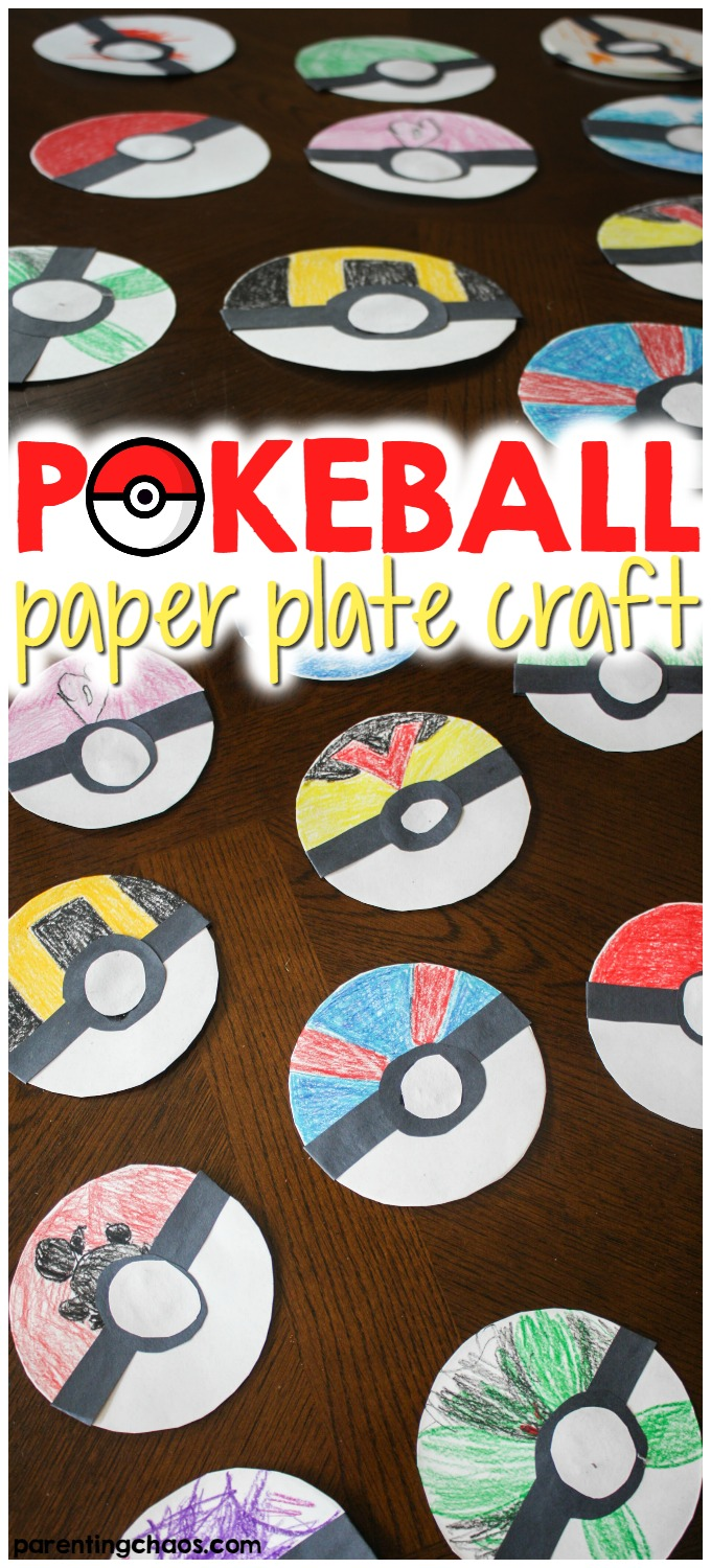 This simple Poké Ball Paper Plate Craft is a fun activity to get kids creatively working on their fine motor skills while tapping into that love of Pokémon.