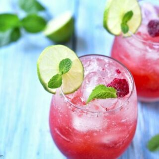 This delicious raspberry mojito is the perfect sweet and bubbly drink! If you're looking for a refreshing drink after a long day, this is the one.
