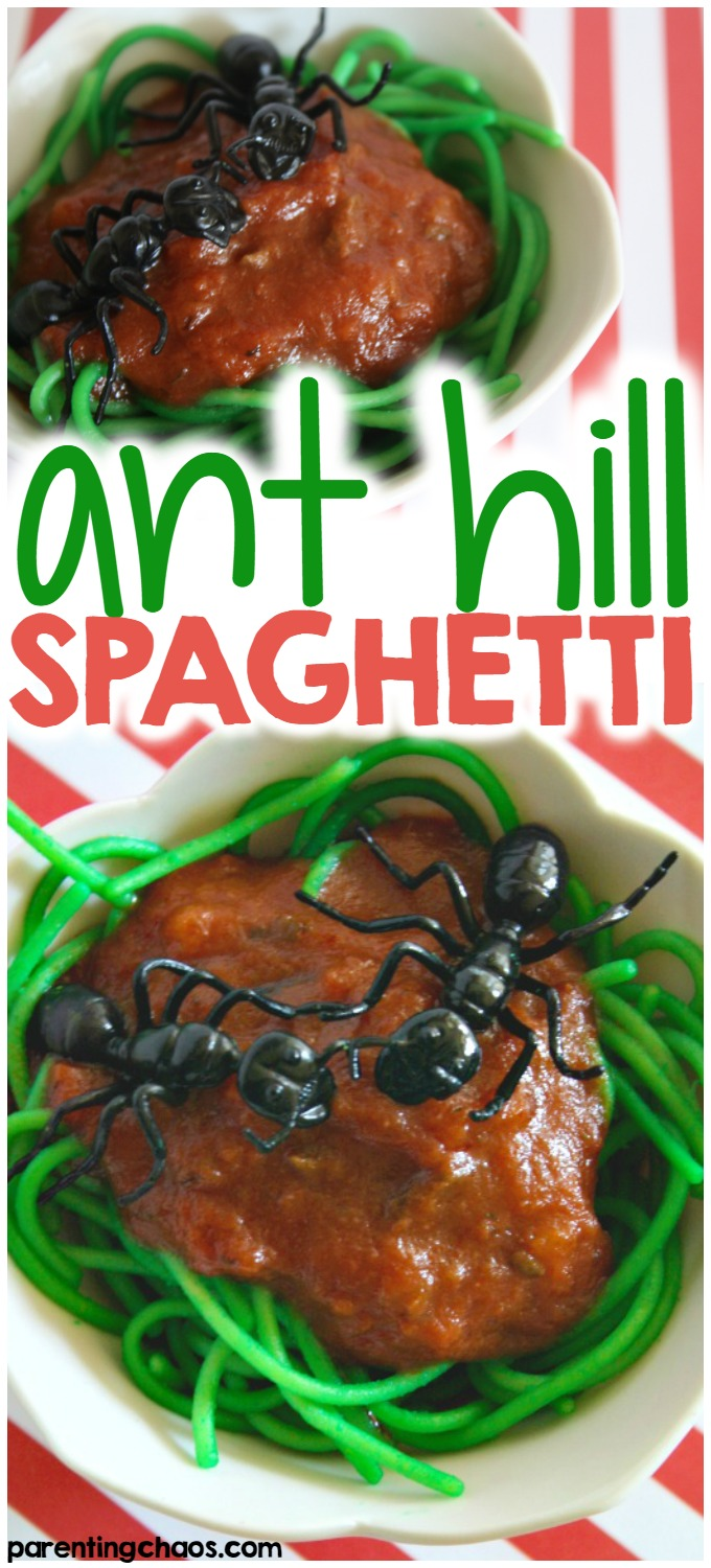 In our house, the kids just love bug themed sensory play. If your little ones are like mine, they're sure to love this kids spaghetti recipe!