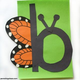 This b is for Butterfly letter of the week craft is one that your kids will love to do while learning all about the letter B!