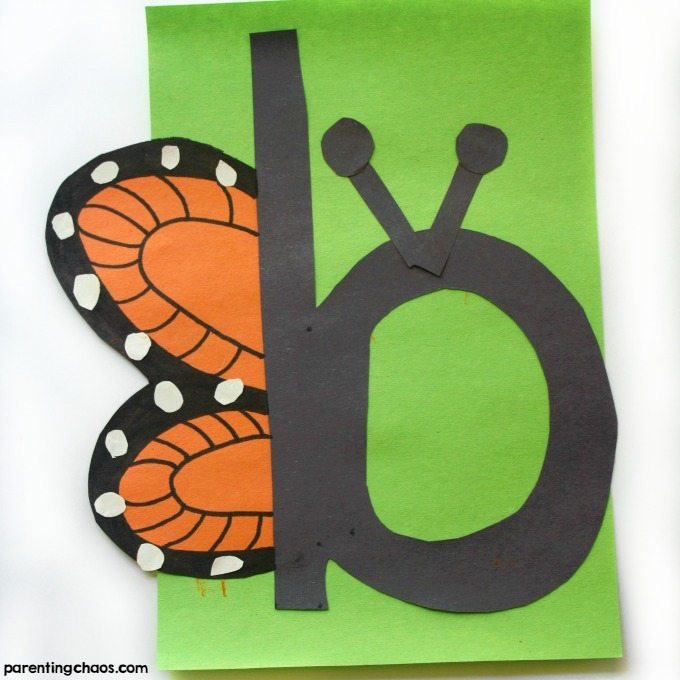 b is for Butterfly Letter of the Week Craft