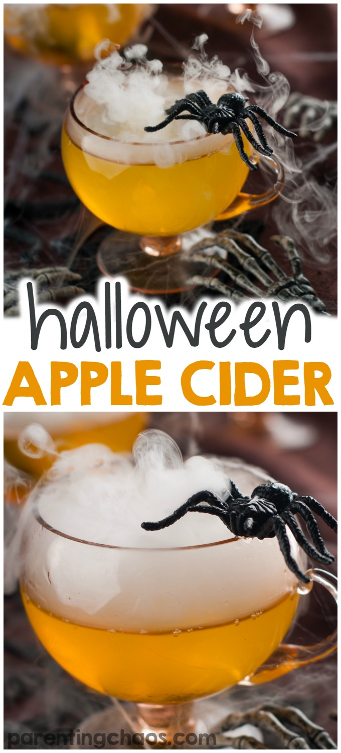 Apple cider is a holiday favorite for our kids (who also love halloween). If your kids are like mine, they will love halloween crockpot apple cider.