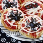 If you're looking for an easy and fun recipe for Halloween but are trying to avoid the sweets, you're going to love this easy Halloween pizza recipe!