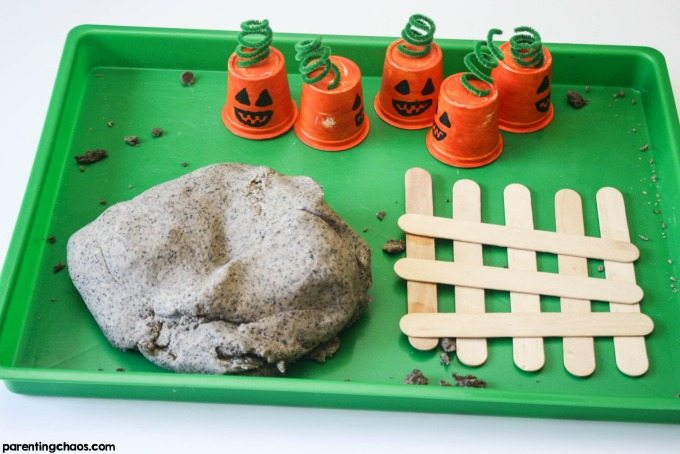 5 Little Pumpkins Sensory Bin
