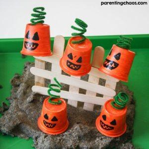 5 Little Pumpkins Sensory Bin