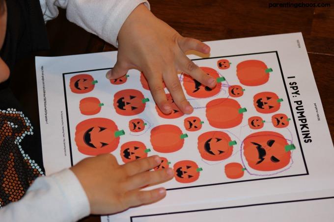 Free I Spy Pumpkin Printable