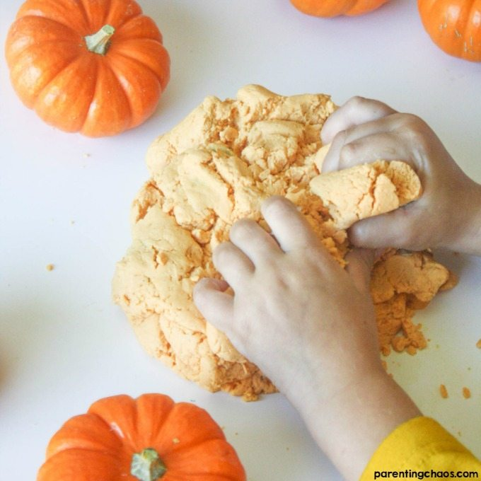 Taste Safe Pumpkin Play Dough