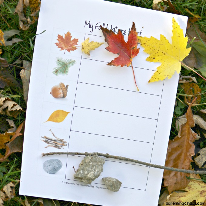 graphic regarding Fall Scavenger Hunt Printable known as Tumble Scavenger Mother nature Hunt with Cost-free Printable Worksheet