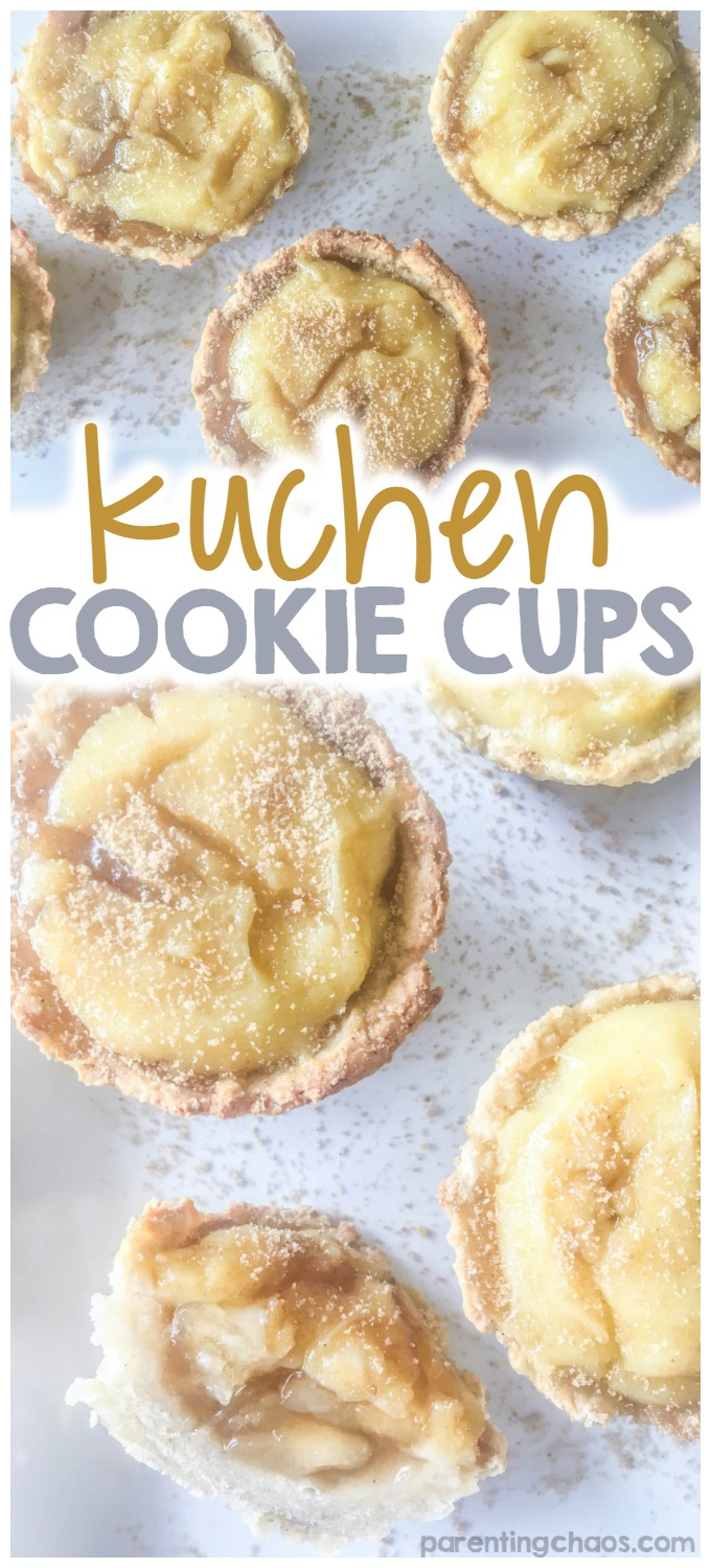 These Kuchen Cookie Cups are DELICIOUS!