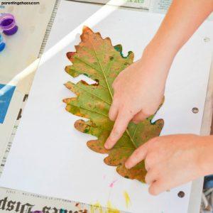 Leaf Prints are a Fantastic Process Art Kids Activity!
