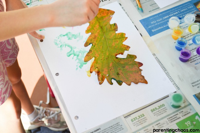 Leaf Prints are a Fantastic Process Art Kids Activity!